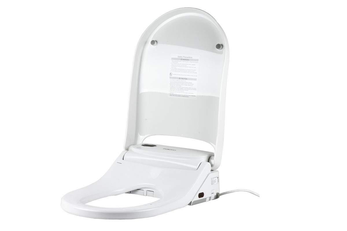 Euroto Smart Toilet Bidet Luxe Elongated Unlimited Warm Water Toilet Seats Adjustable Heated Seat Dual Memory Water Dual Nozzle Feminine Wash Wireless Remote Control Nightlight 2020 Model